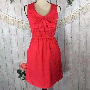 BeBop red wedding spring summer dress cinched